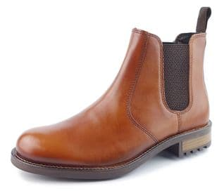 Mens Leather Chelsea Boots Frank James Tan Brown Black Pull On Formal Casual